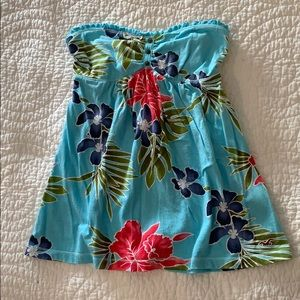 Hollister floral printed strapless top